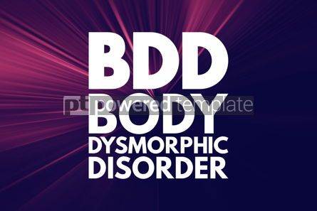 Business: BDD - Body Dysmorphic Disorder acronym medical concept backgrou #16181