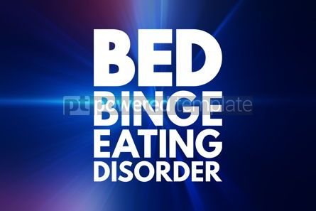 Business: BED - Binge Eating Disorder acronym health concept background #16183