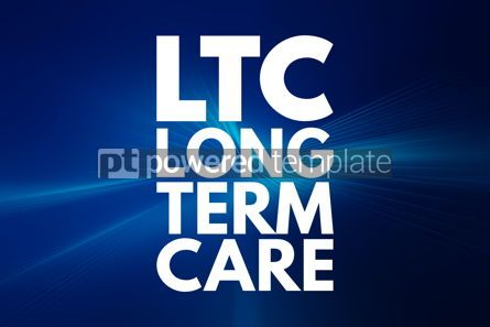Business: LTC - Long Term Care acronym medical concept background #16187