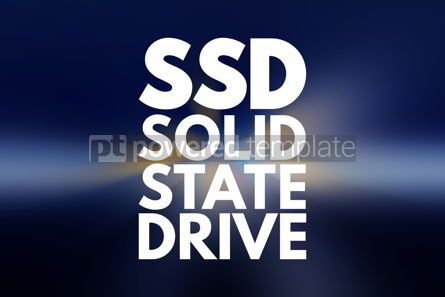 Business: SSD - Solid State Drive acronym technology concept background #16188