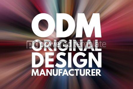 Business: ODM - Original Design Manufacturer acronym business concept bac #16189