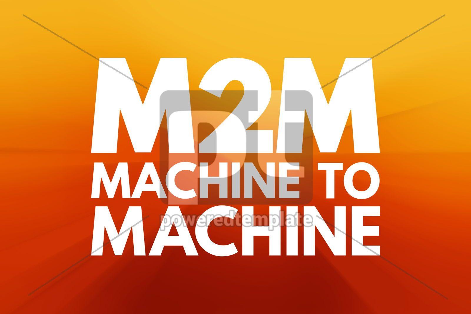 M2M - Machine to Machine acronym technology concept background, 16190, Business — PoweredTemplate.com