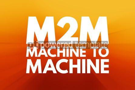 Business: M2M - Machine to Machine acronym technology concept background #16190