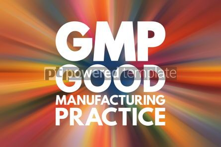 Business: GMP - Good Manufacturing Practice acronym business concept back #16191