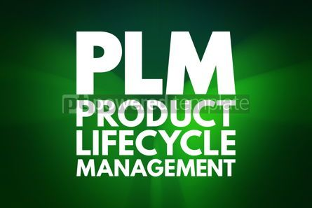 Business: PLM - Product Lifecycle Management acronym business concept bac #16192