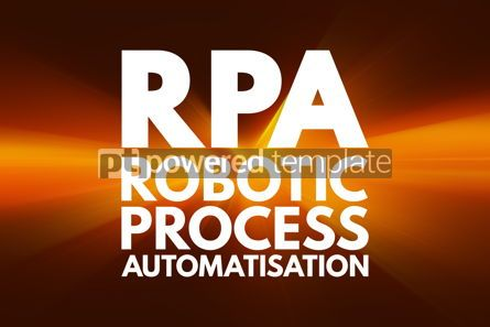 Business: RPA - Robotic Process Automatisation acronym technology concept #16194