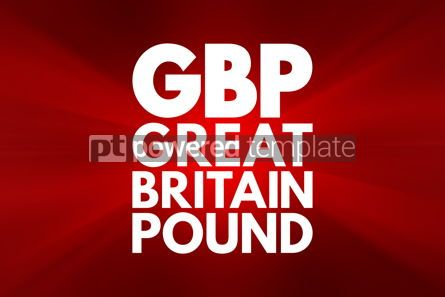 Business: GBP - Great Britain Pound acronym business concept background #16201