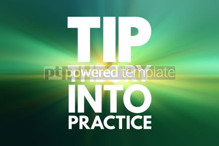 Business: TIP - Theory Into Practice acronym education concept background #16206
