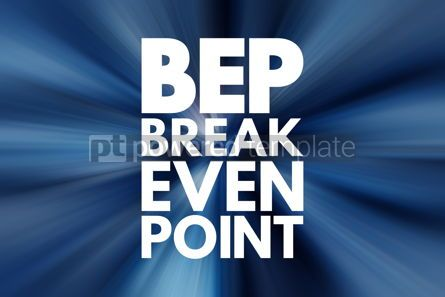 Business: BEP - Break Even Point acronym business concept background #16208