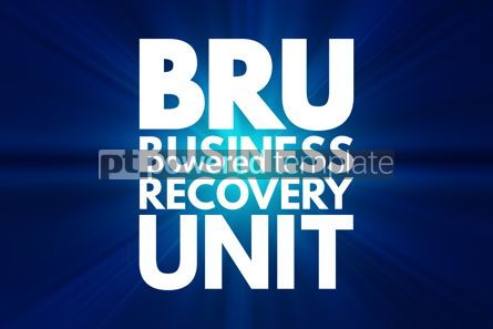 Business: BRU - Business Recovery Unit acronym business concept backgroun #16209