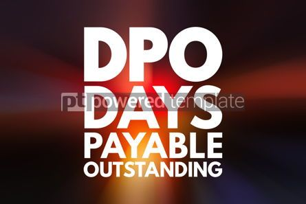 Business: DPO - Days Payable Outstanding acronym business concept backgro #16214