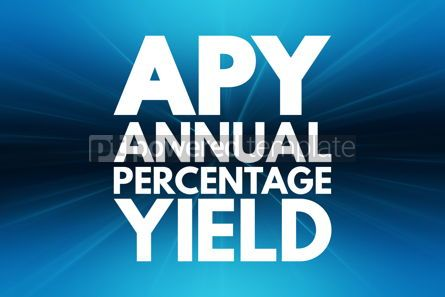 Business: APY - Annual Percentage Yield acronym business concept backgrou #16215
