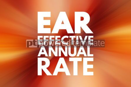 Business: EAR - Effective Annual Rate acronym business concept background #16216