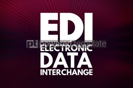 Business: EDI - Electronic Data Interchange acronym technology concept ba #16217