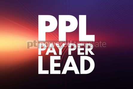 Business: PPL - Pay Per Lead acronym business concept background #16220