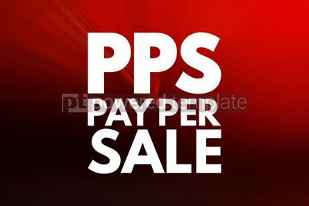 Business: PPS - Pay Per Sale acronym business concept background #16221