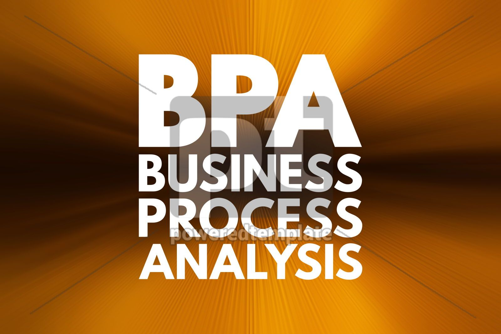 BPA - Business Process Analysis acronym business concept backgr, 16222, Business — PoweredTemplate.com