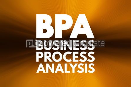 Business: BPA - Business Process Analysis acronym business concept backgr #16222