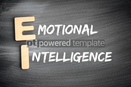 Business: EI - Emotional Intelligence acronym business concept on blackbo #16226