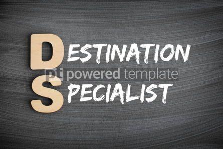 Business: DS - Destination Specialist acronym business concept text on bl #16227
