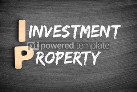 Business: IP - Investment Property acronym business concept on blackboard #16229