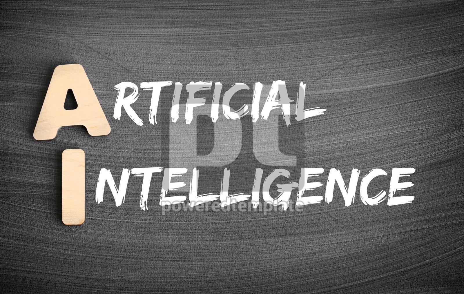 AI - Artificial Intelligence acronym concept on blackboard, 16231, Business — PoweredTemplate.com