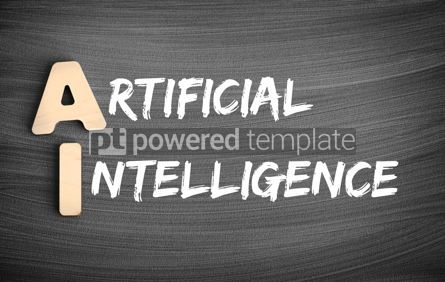 Business: AI - Artificial Intelligence acronym concept on blackboard #16231