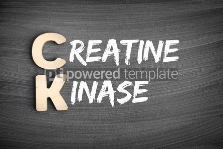 Business: CK - Creatine Kinase acronym medical concept on blackboard #16233