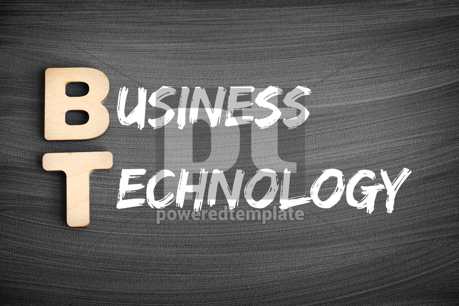 BT - Business Technology acronym business concept on blackboard, 16234, Business — PoweredTemplate.com