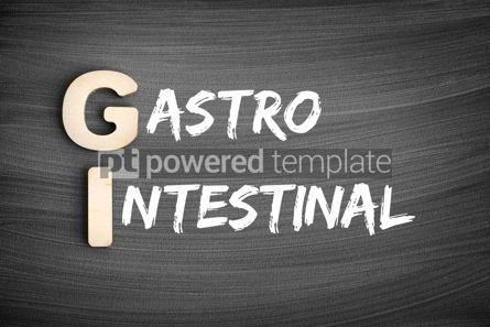 Business: GI - Gastrointestinal acronym medical concept on blackboard #16236