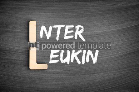 Business: IL - interleukin acronym medical concept on blackboard #16237