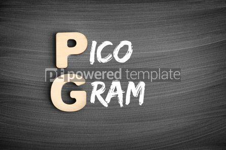 Business: PG - Picogram acronym medical concept on blackboard #16238