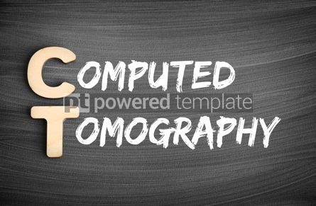 Business: CT - Computed Tomography acronym medical concept on blackboard #16239