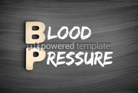 Business: BP - Blood Pressure acronym medical concept on blackboard #16241