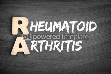 Business: RA - Rheumatoid Arthritis acronym medical concept on blackboard #16242