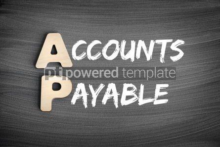 Business: AP - Accounts Payable acronym business concept on blackboard #16247