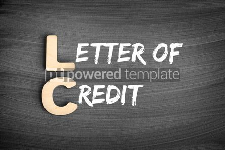 Business: LC – Letter of Credit acronym business concept on blackboard #16249