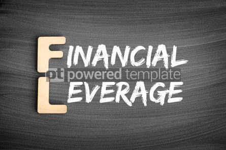 Business: FL - Financial Leverage acronym business concept on blackboard #16250