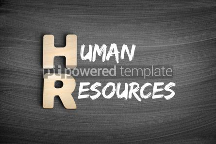 Business: HR - Human Resources acronym business concept on blackboard #16251