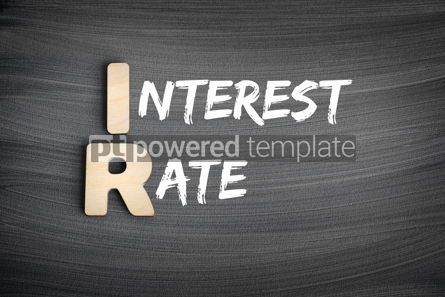 Business: IR - Interest Rate acronym business concept on blackboard #16253