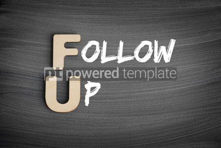Business: FU - Follow-Up acronym concept on blackboard #16254