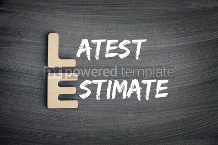 Business: LE - Latest Estimate acronym business concept on blackboard #16255