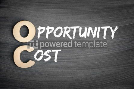 Business: OC - Opportunity Cost acronym business concept on blackboard #16256