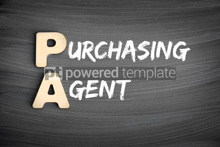 Business: PA - Purchasing agent acronym business concept on blackboard #16259