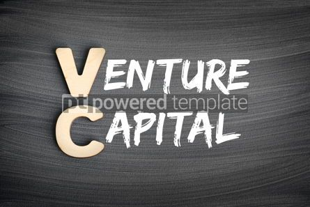 Business: VC - Venture Capital acronym business concept on blackboard #16263