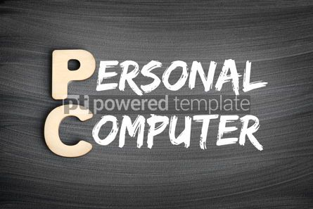 Business: PC - Personal Computer acronym technology concept on blackboard #16267
