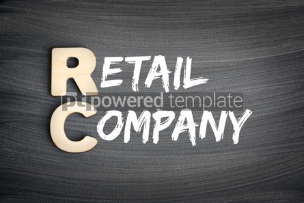 Business: RC - Retail Company acronym business concept on blackboard #16268