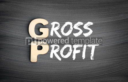 Business: GP - Gross Profit acronym business concept on blackboard #16269