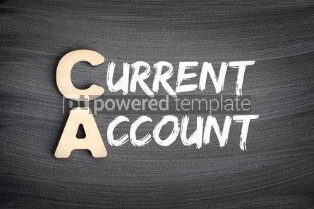 Business: CA - Current Account acronym business concept on blackboard #16270