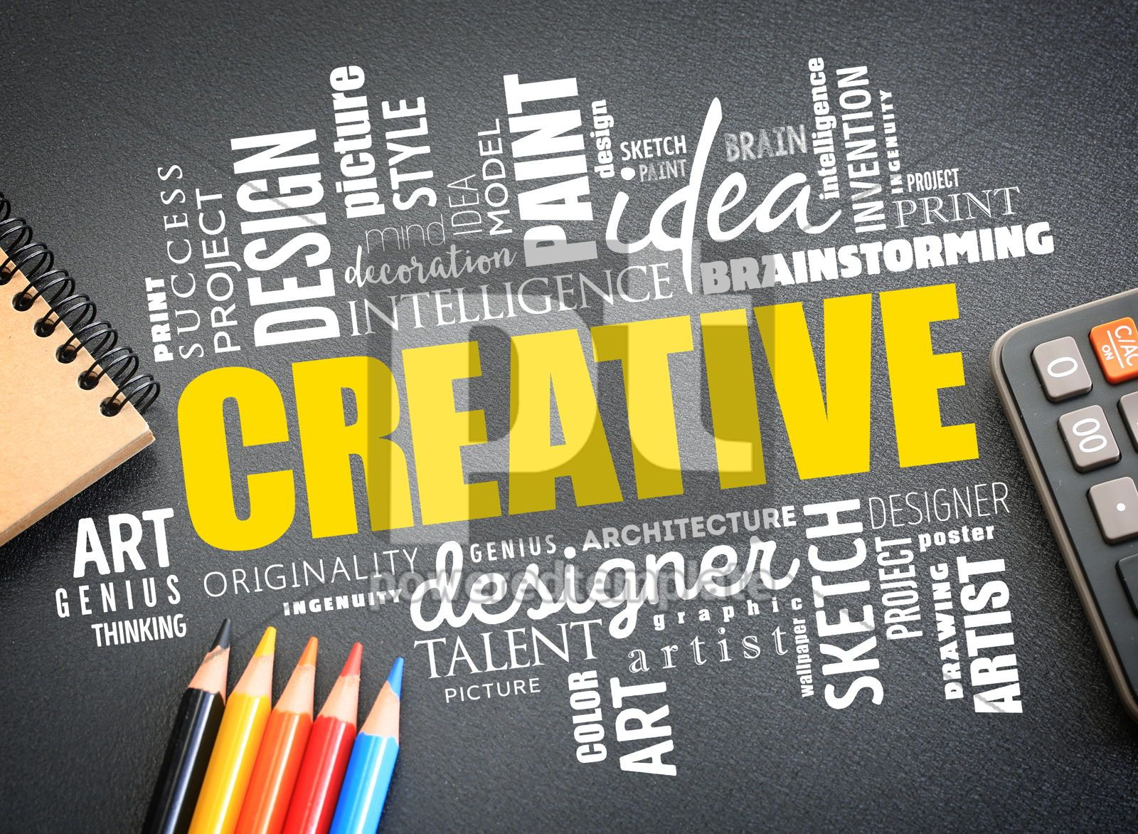 CREATIVE word cloud creative business concept background, 16276, Business — PoweredTemplate.com